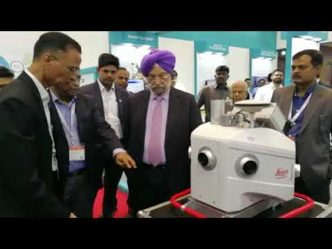 Urban Development Minister visited Hexagon booth at GWF 2018