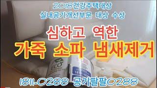 심하고 역한 가죽 소파 냄새제거 및 새집증후군제거/ 5…