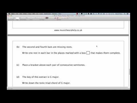 ABRSM Music Theory Grade 1  Question 4 Practice  Extract Analysis