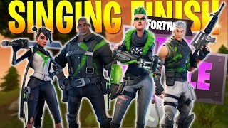 THE SINGING FINISH! - FT. WILDCAT, TERRORISER, AND MARKSMAN (Fortnite Battle Royale)