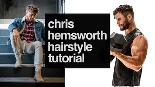 Chris Hemsworth Inspired Hairstyle How To Style Your Hair Like Chris Hemsworth Youtube