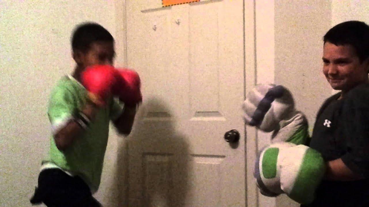 Kid gets hit by door knob