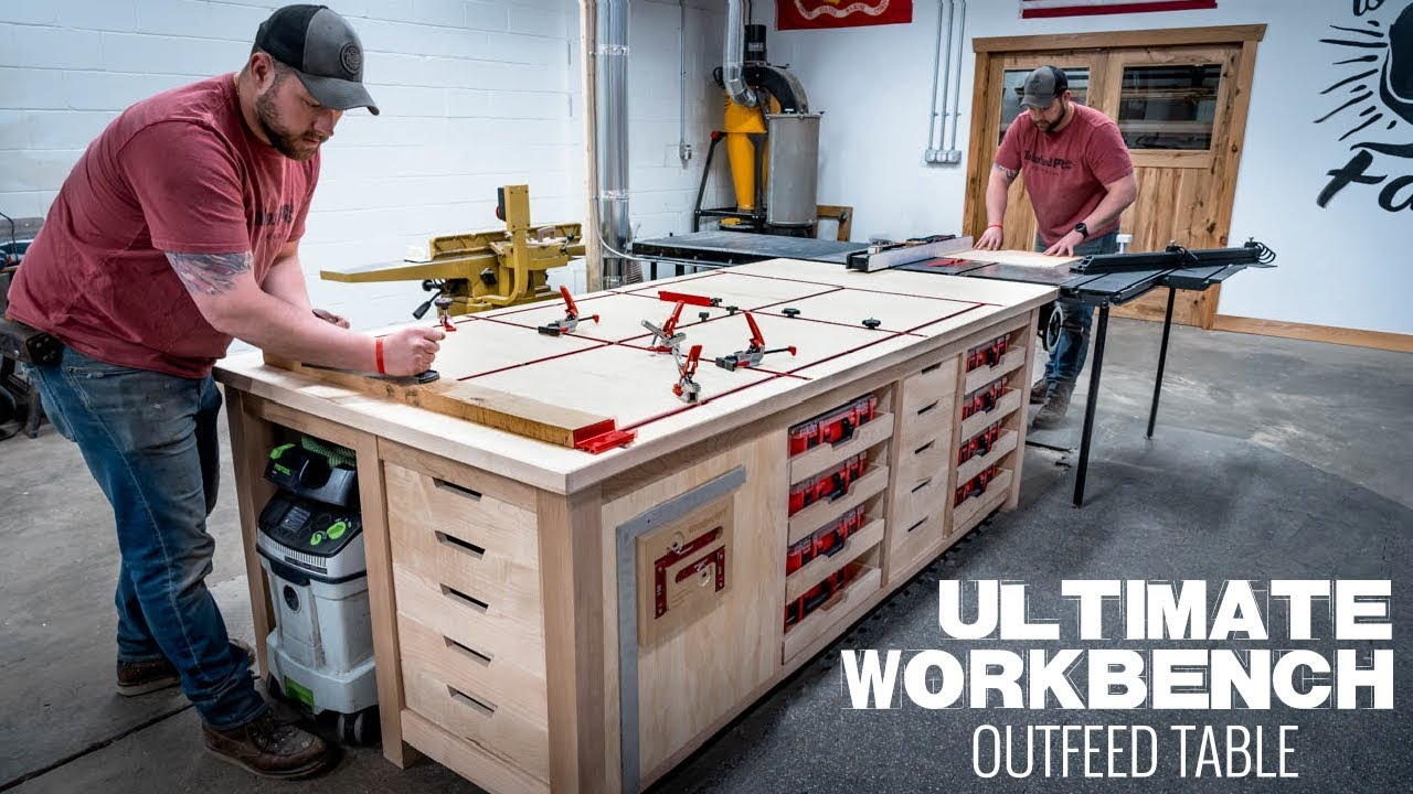Ultimate Workbench Table Saw Outfeed Table Woodworking Project Youtube
