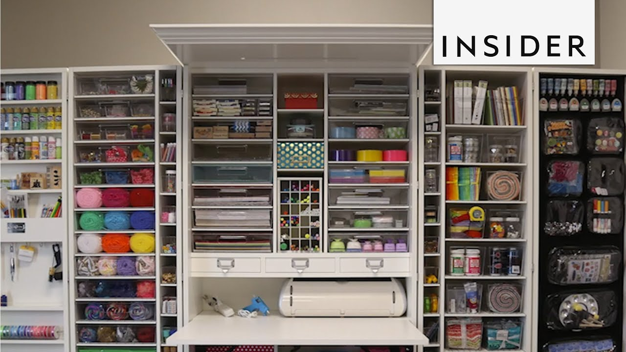 This Crafting Closet Is Storage Goals