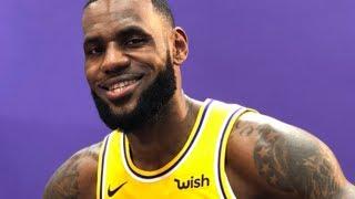 Lebron James Feels NO PRESSURE To Win A Title In LA | NBA Media Day