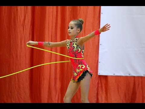 Rhythmic gymnastics with rope in Russia 2017. Children's competition in rhythmic gymnastics