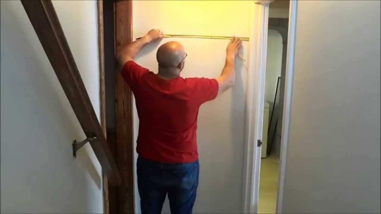 How to hang a mirror centered on a wall youtube how to hang a mirror centered on a wall amipublicfo Images