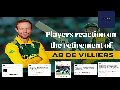 Players reaction on AB Devilliers retirement