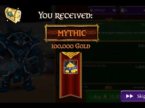 Arcane Legends - Solid Gold Weapons [**LOOTED MYTHIC**]