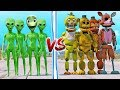 FNAF ANIMATRONICS VS TEAM ALIEN (DAME TU COSITA) | GTA V Five Nights at Freddy's