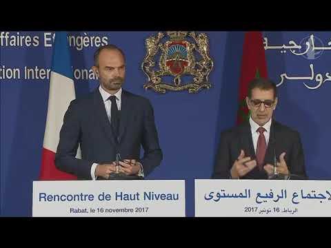 Conférence de presse conjointe d'Édouard Philippe de Saâdeddine El Othmani