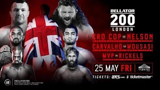 Mirko Cro Cop, Gegard Mousasi, Nelson & Carvalho - Bellator 200 Conference Call