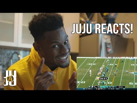 JuJu Smith-Schuster Reacts to his own Highlights!