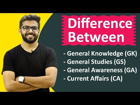 Difference Between GK, GS, GA, CA | SSC , Railways Exams | Government Job Preparation Well Academy