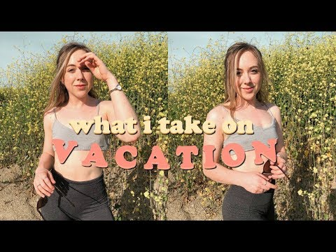 WHAT I TAKE ON VACATION + What I Eat in a Day