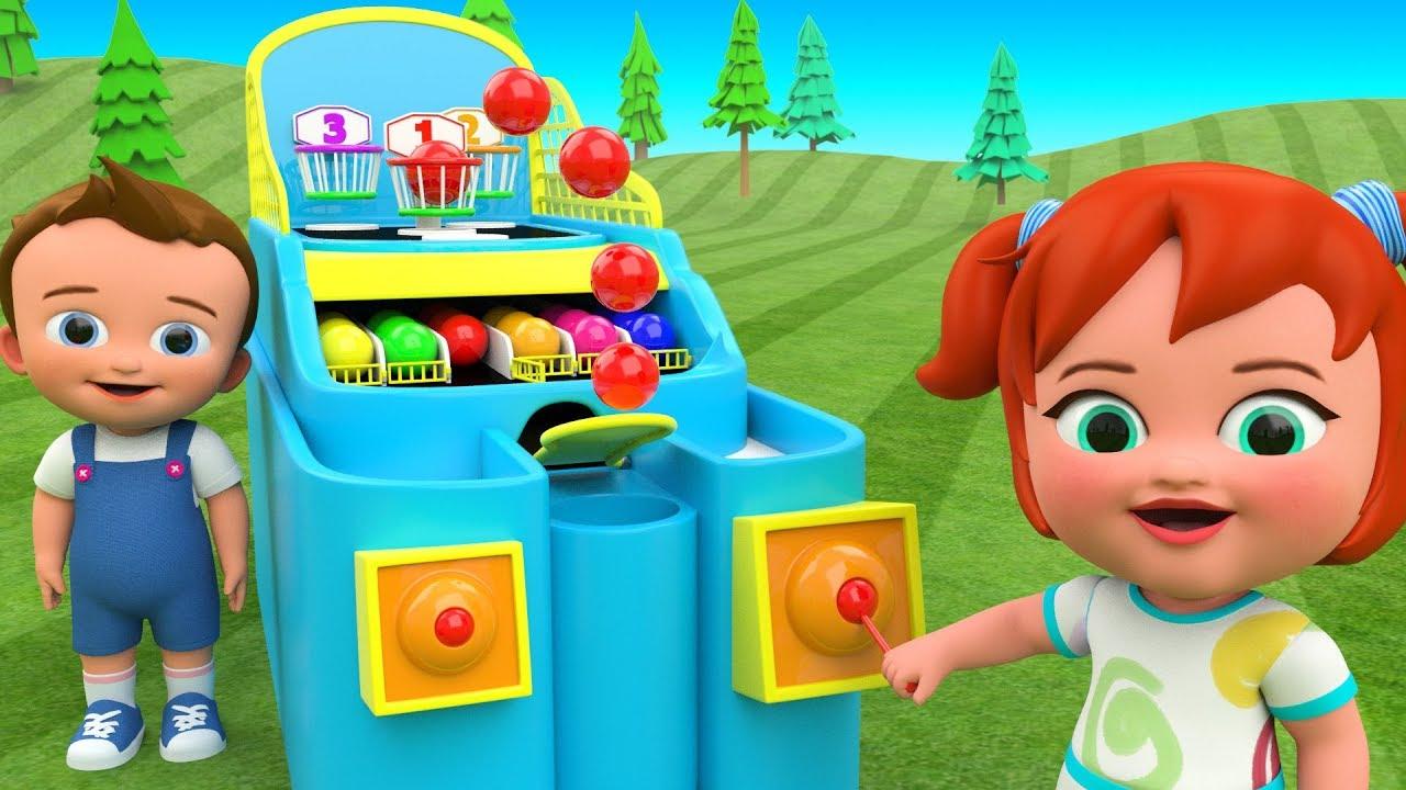 Learn Colors for Children Color Balls Basketball | 3d Kids Toys