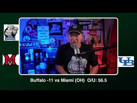 Buffalo vs Miami OH 11/10/20 Free College Football Picks and Predictions CFB Tips Tuesday PickDawgz
