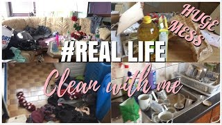REAL LIFE CLEAN WITH ME // RELAXING SUNDAY CLEANING // EXTREME CLEANING MOTIVATION