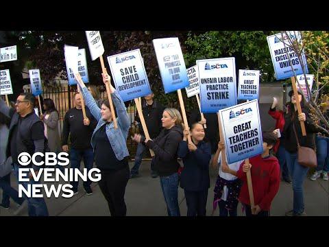 "Sacramento teachers strike ""for what's right"""