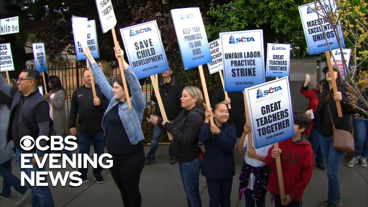 Sacramento teachers strike \'for what's right\'