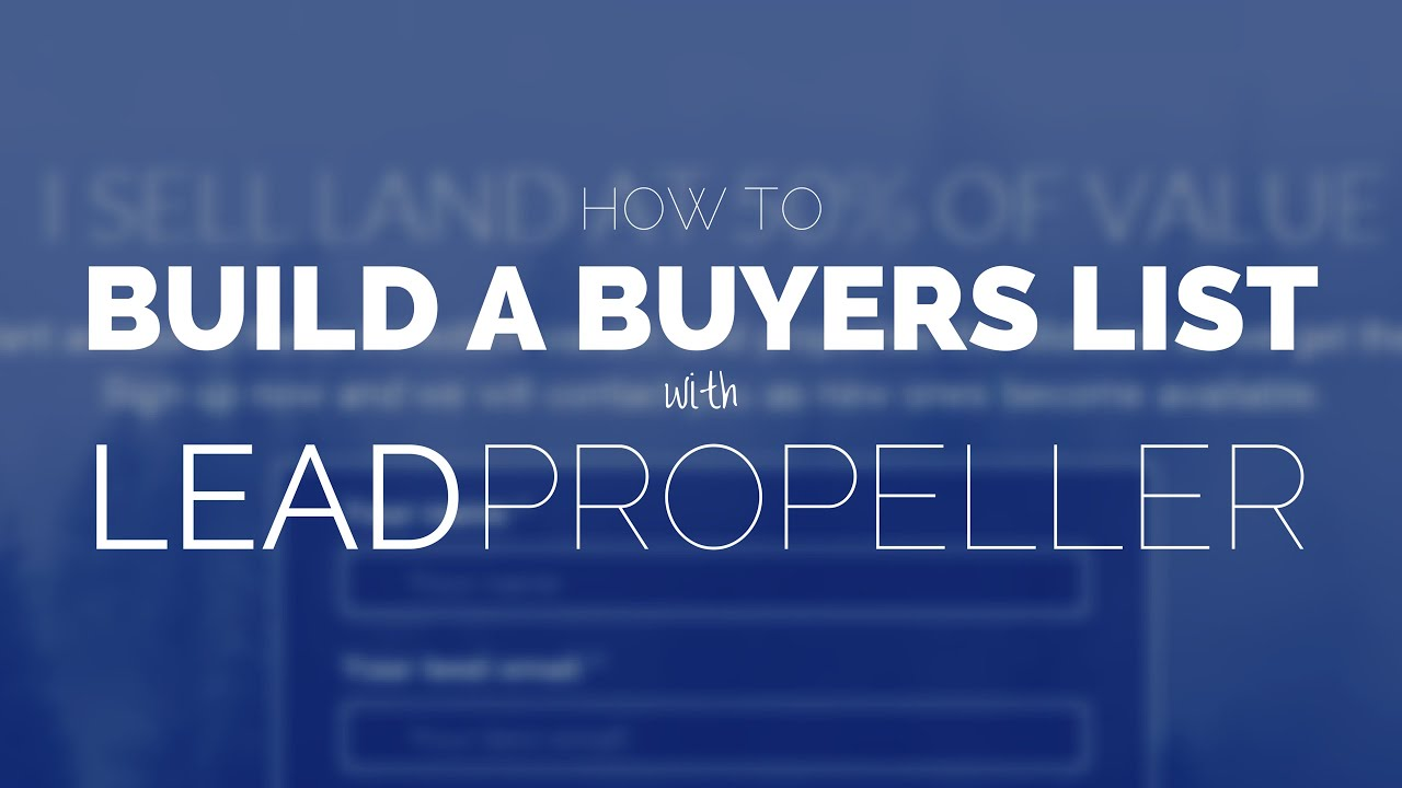 The Ultimate Guide to Building a Real Estate Buyers List