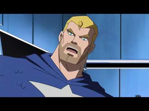 Captain America and the Skrull prisoners escape
