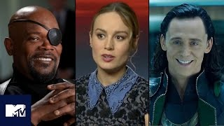 Tom Hiddleston, Brie Larson & Samuel L. Jackson Talk Avengers: Infinity War | MTV Movies