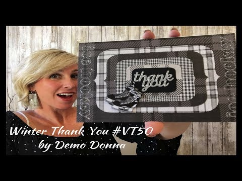 Winter Thank You by Demo Donna
