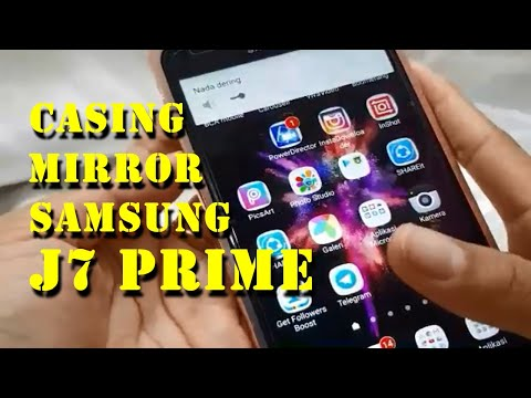 UNBOXING & REVIEW Luxury Bumper Metal + Mirror Case Samsung Galaxy J7 Prime Indonesia