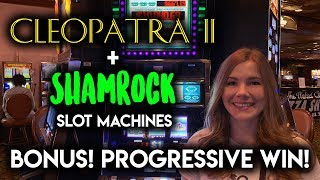 HIGH LIMIT! Shamrock Slot Machine! Max Bet BONUS! NICE WIN!