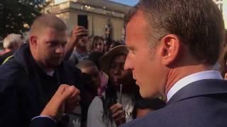 «Je traverse la rue, je vous en trouve» un emploi, assure Macron à un jeune chômeur thumbnail