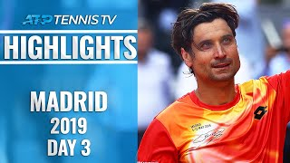 Ferrer Fairytale Continues; Djokovic And Federer Ease Through | Madrid Open 2019 Highlights Day 3
