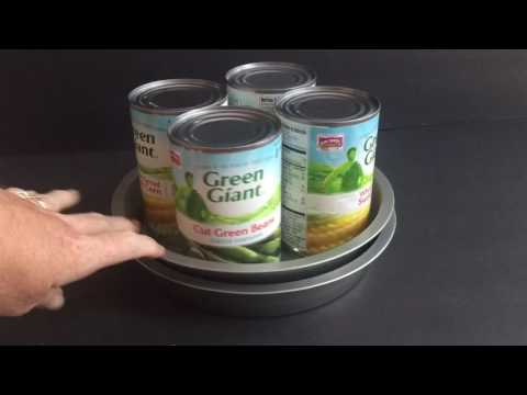 Dollar Store Organizing -- DIY Lazy Susan