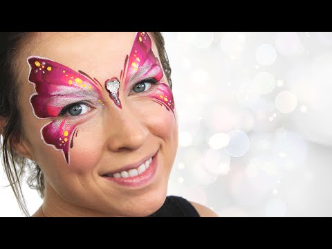 One-Stroke Butterfly Face Painting Tutorial | Ashlea Henson