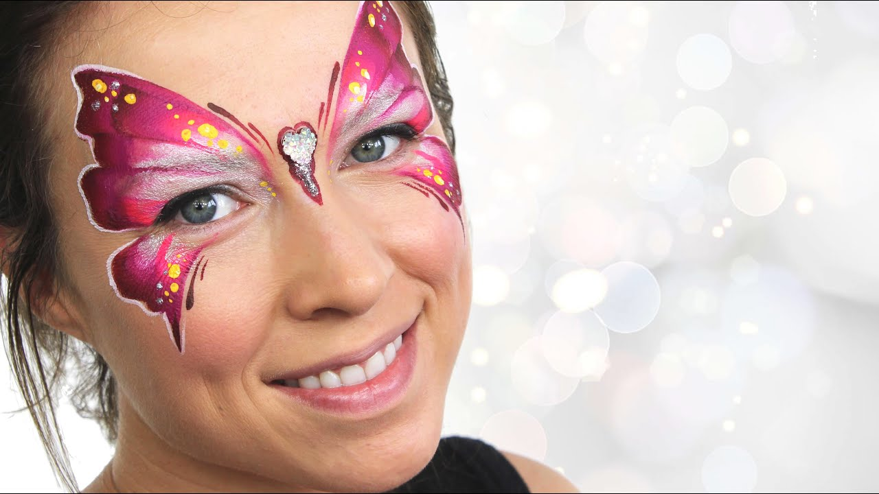 How To Paint A Butterfly On Your Face