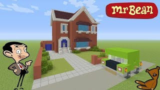 Minecraft Tutorial: How To Make Mr Beans House Mr Bean animated TV series YouTube