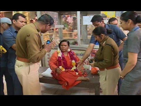 narendra modi minister uma bharti का हंगामा |  mahakal temple में विवाद | जल चढ़ाने से रोका