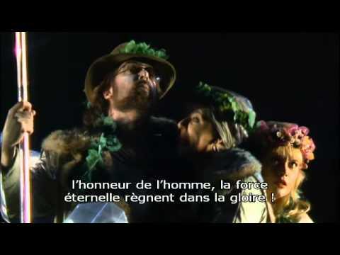 Wagner: Das Rheingold, scenes 1/2, Barenboim/Kupfer, french subs.
