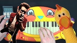 PANIC! AT THE DISCO - HIGH HOPES ON A CAT PIANO, A CHICKEN AND A DRUM CALCULATOR