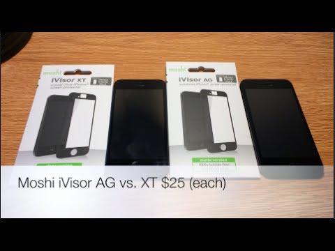competitive price e8e21 5448a Vs. REVIEW: Moshi iVisor AG vs. XT (BUBBLE FREE Screen Protectors)