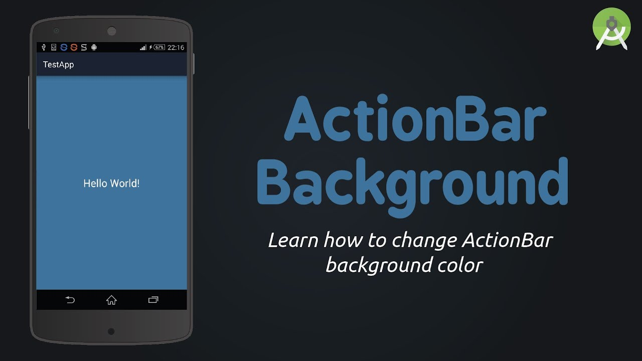 Android Studio - Change ActionBar Background Color | Tutorial
