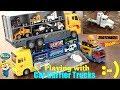 Children's CAR CARRIER TRUCKS Toy Playtime. Car Transporter Trucks. Diecast Cars. Pororo