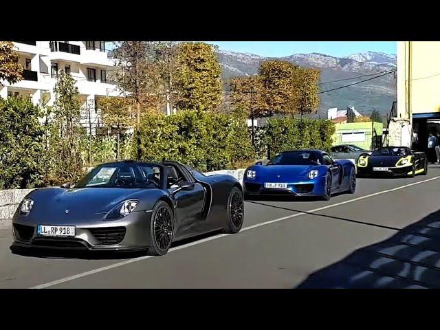 Porsche Tour in Montenegro: 918 Spyder 6x, 911 GT3 RS, Turbo S 3x, GTS 2x..