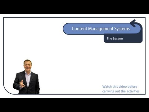 Content Management Systems - Editing your Website