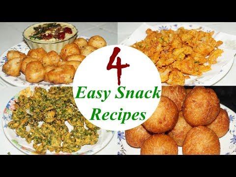 4 Easy Snacks recipe in telugu by Amma Kitchen- Latest Indian Recipes