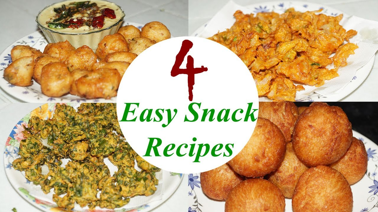 4 Easy Snacks Recipe In Telugu By Amma Kitchen Latest Indian Recipes