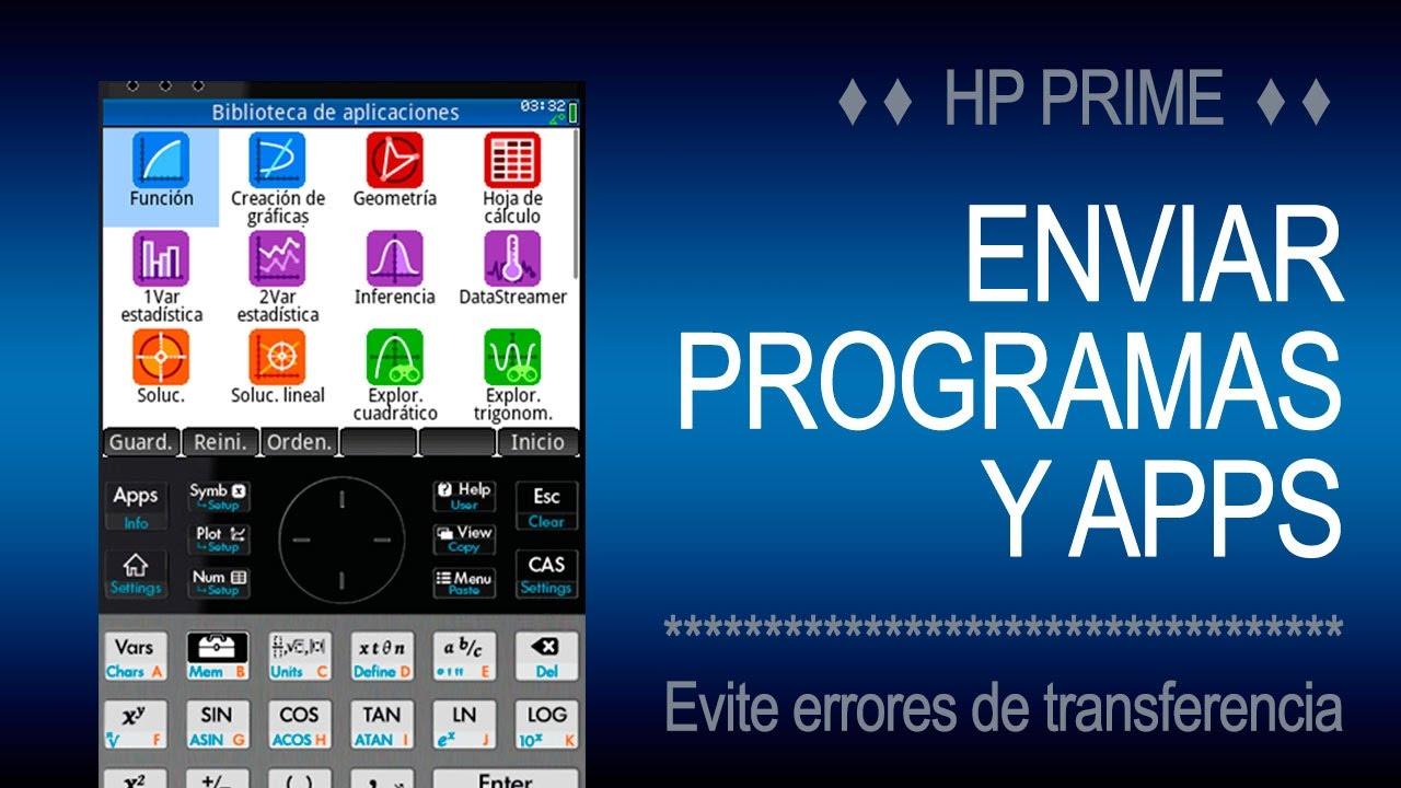 Enviar Programas y Apps | HP Prime