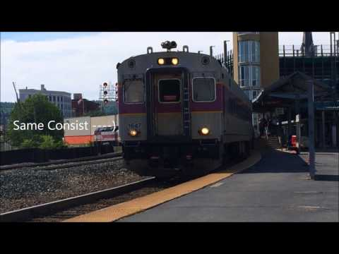 Lots of MBTA action along the Fitchburg line!