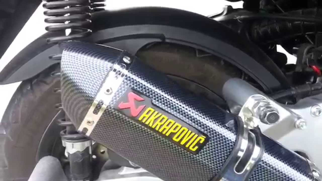 akrapovic universal yamaha x max 125 youtube. Black Bedroom Furniture Sets. Home Design Ideas