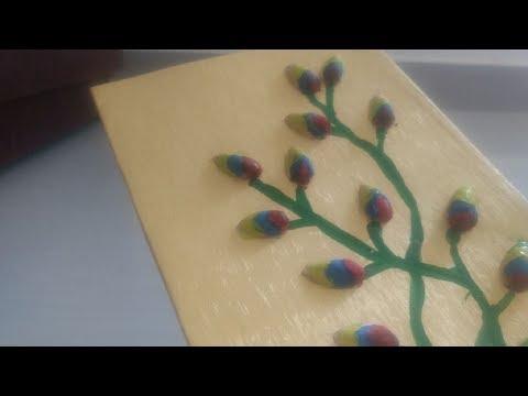DIY pista shells art | best out of waste | kids crafts | wall art